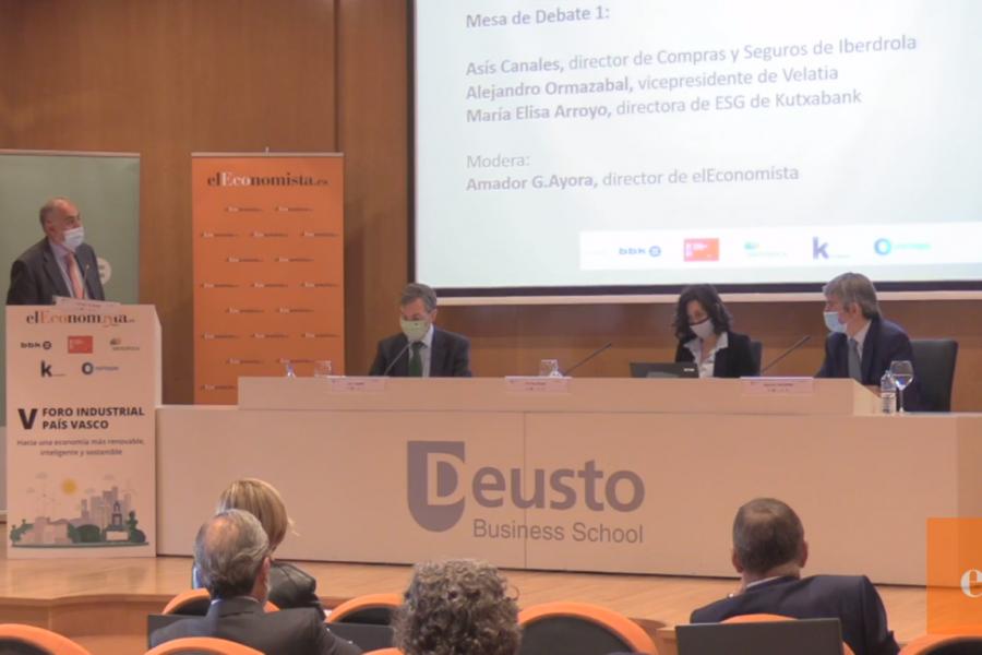"""Alejandro Ormazabal, vicepresidente de Velatia: """"Para la descarbonización necesitamos redes inteligentes y energías renovables"""""""