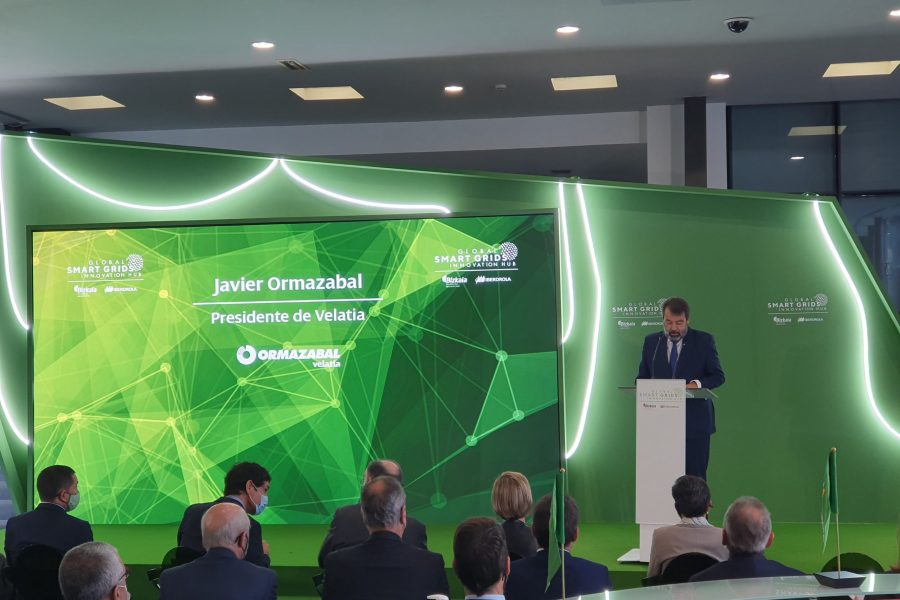 Javier Ormazabal, President of Velatia, participates in the inauguration of the Global Smart Grids Innovation Hub (GSGIH), promoted by Iberdrola and the Provincial Council of Bizkaia